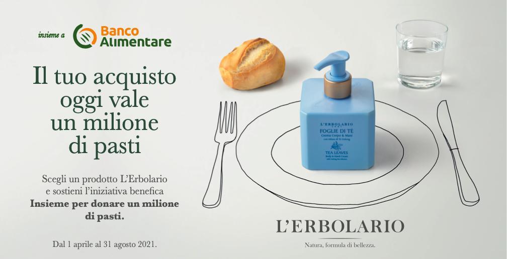 L'Erbolario torna al fianco di Banco Alimentare - copertina CRM