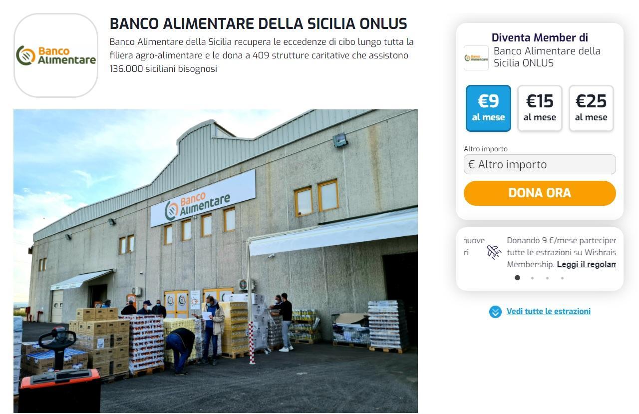 Wishraiser Banco Alimentare della Sicilia (Catania)