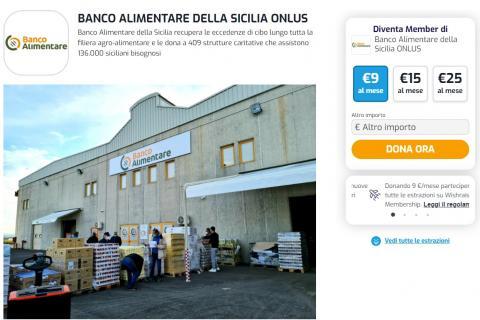 Profilo Wishraiser Banco Alimentare della Sicilia