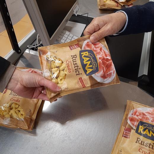 Prodotto tortellini rustici donati - campagna Giovanni Rana 2020